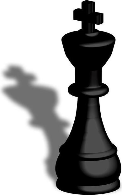 Z prawej strony portretu widzimy szachowego króla wykonanego wklęsłodrukiem  połączonym z szablonowaniem. Figura ta w grze w szachy jest kluczowa, PlusPng.com  - Szachy Figury PNG