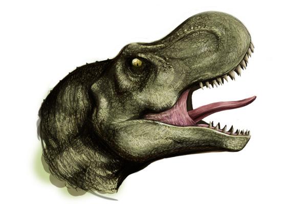 roaring T-rex head by andungen PlusPng.com  - T Rex Head PNG