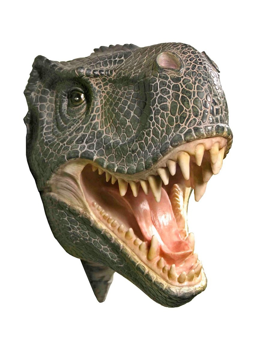 T-Rex Dinosaur Attack Plaque - 3D Wall Trophy - T Rex Head PNG