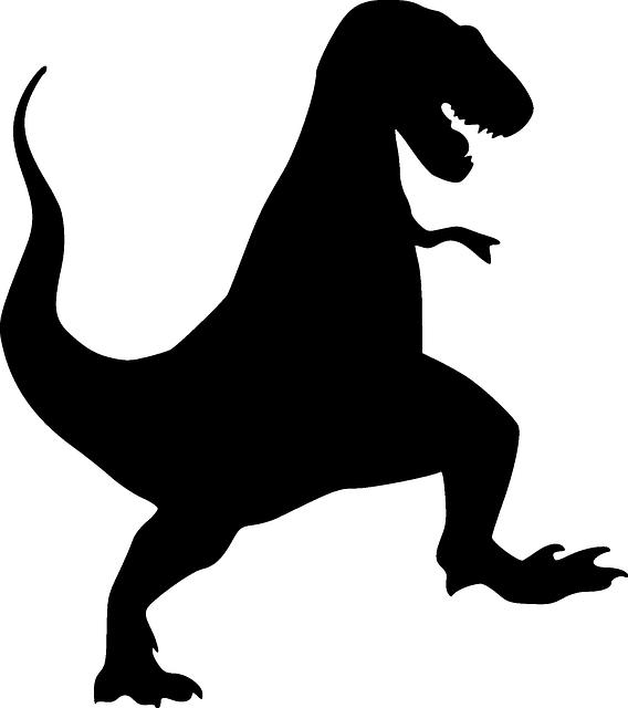 Free vector graphic: Dinosaur, Tyrannosaurus, Rex, Black - Free Image on  Pixabay - 309638 - T Rex PNG Black And White
