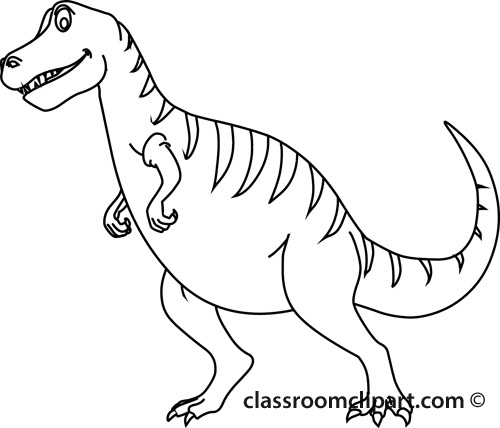 pin Tyrannosaurus Rex clipart dinosaur outline #4 - T Rex PNG Black And White