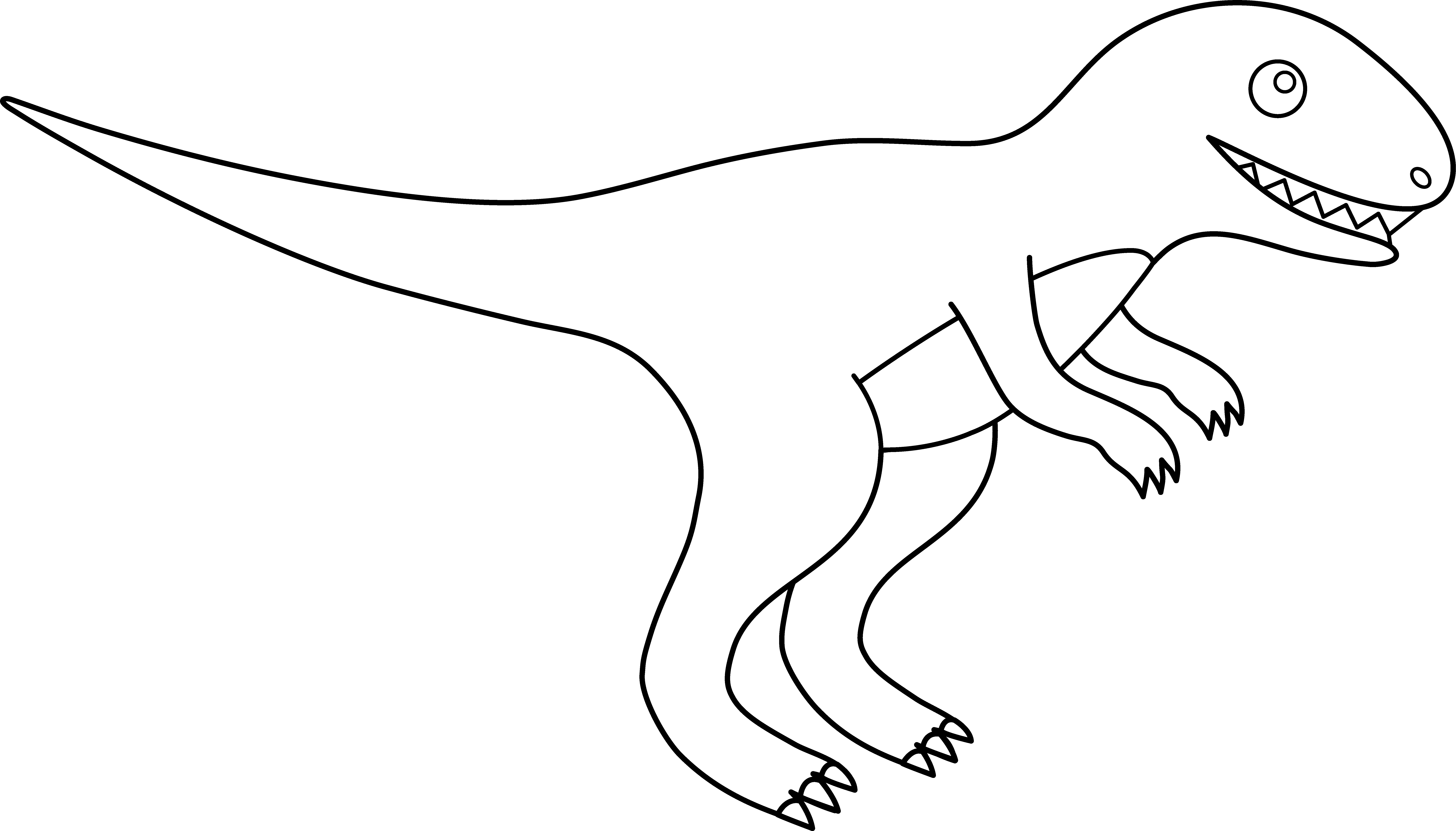 pin Tyrannosaurus Rex clipart dinosaur outline #7 - T Rex PNG Black And White