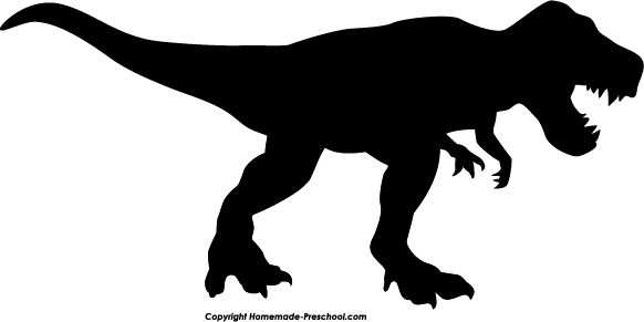 rex silhouette clipart - T Rex PNG Black And White