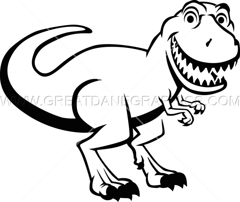 Smiling T-Rex - T Rex PNG Black And White