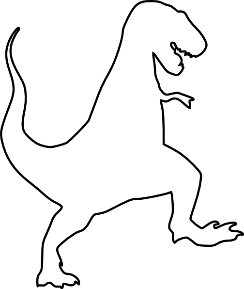 T - T Rex PNG Black And White