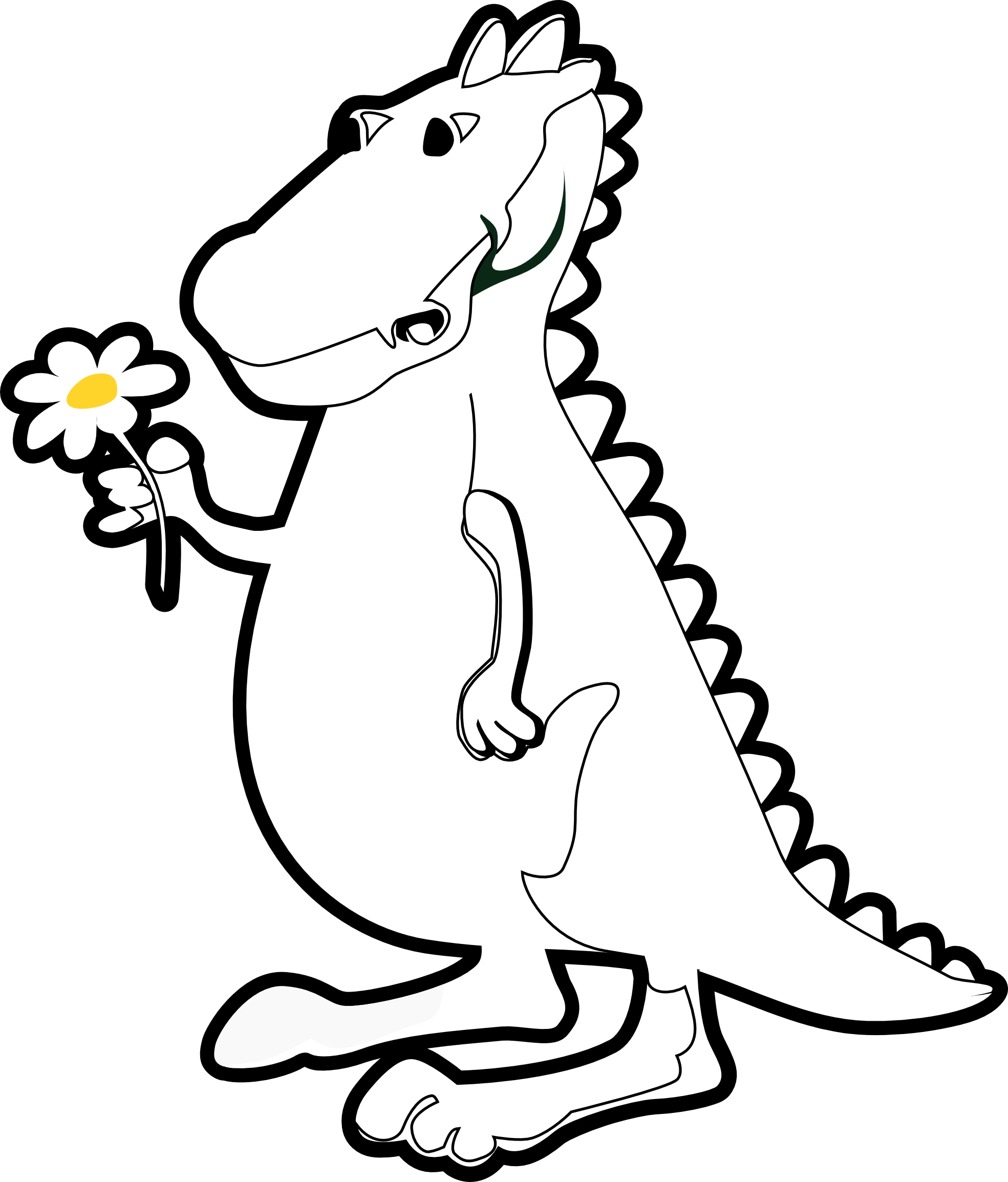 trex clipart black and white - T Rex PNG Black And White