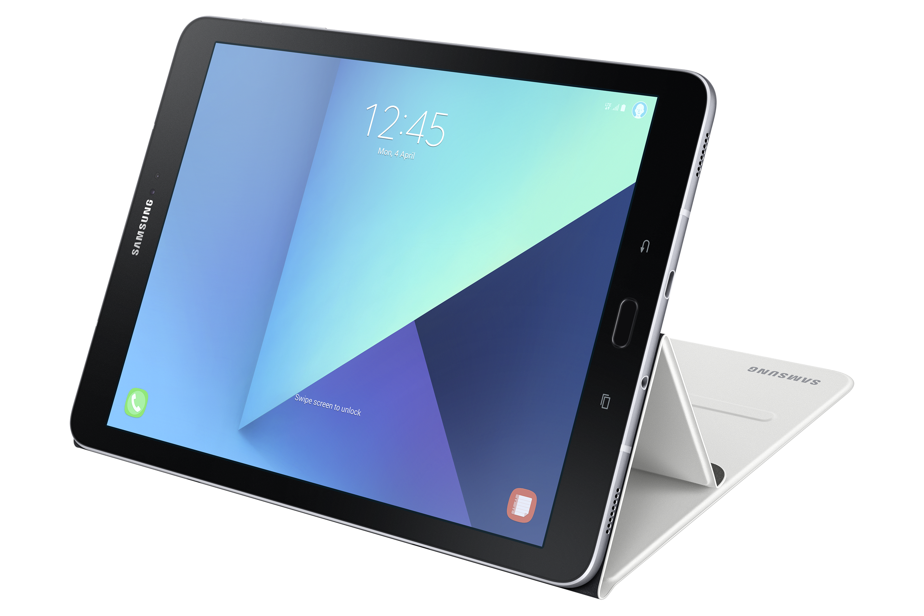 SAMSUNG GALAXY TAB S3 001 FRONT WHITE PlusPng.com  - Tab PNG