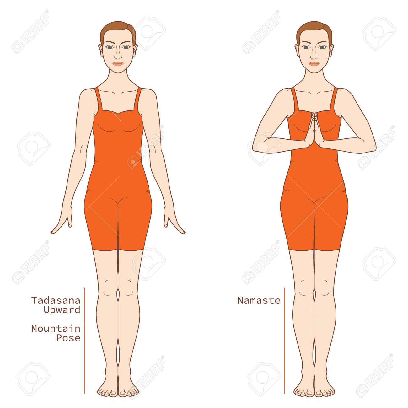 Tadasana Yoga Pose PNG - 60674