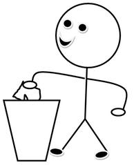 Mülldienst s/w - Piktogramm, Klassendienst, Dienst, Symbol, Zeichnung,  Illustration - Tafel Putzen PNG
