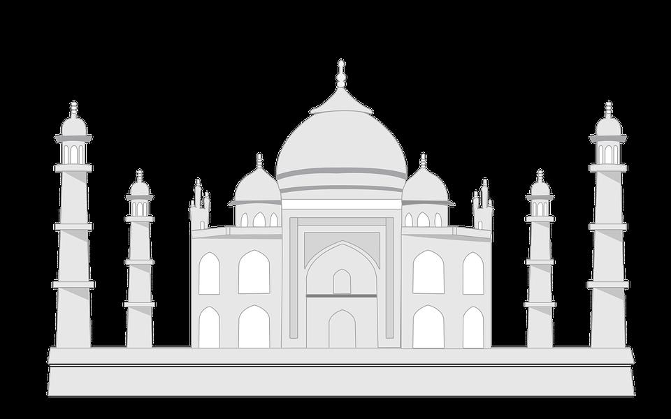 Tajmahal, Taj, India, Tajmahal Sketch, Mahal - Taj Mahal PNG