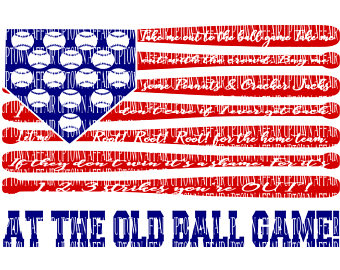 Take Me Out To The Ball Game. Flag Lyrics. Song Baseball SVG/PNG - Take Me Out To The Ballgame PNG