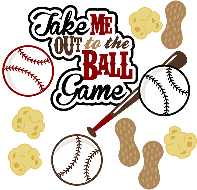 Take Me Out To The Ball Game SVG Baseball Svg File Sports Svg File Baseball  Scrapbooking Svg File - Take Me Out To The Ballgame PNG