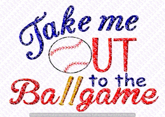 Take Me Out To The Ballgame Svg Quote, Quote Overlay, SVG, Vinyl, Cutting  File, PNG, Cricut, Cut Files, Clip Art, Dxf, Vector File From ChefSVG On  Etsy PlusPng.com  - Take Me Out To The Ballgame PNG