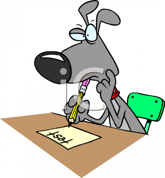 Cartoon Dog Taking A Test - Taking A Test PNG