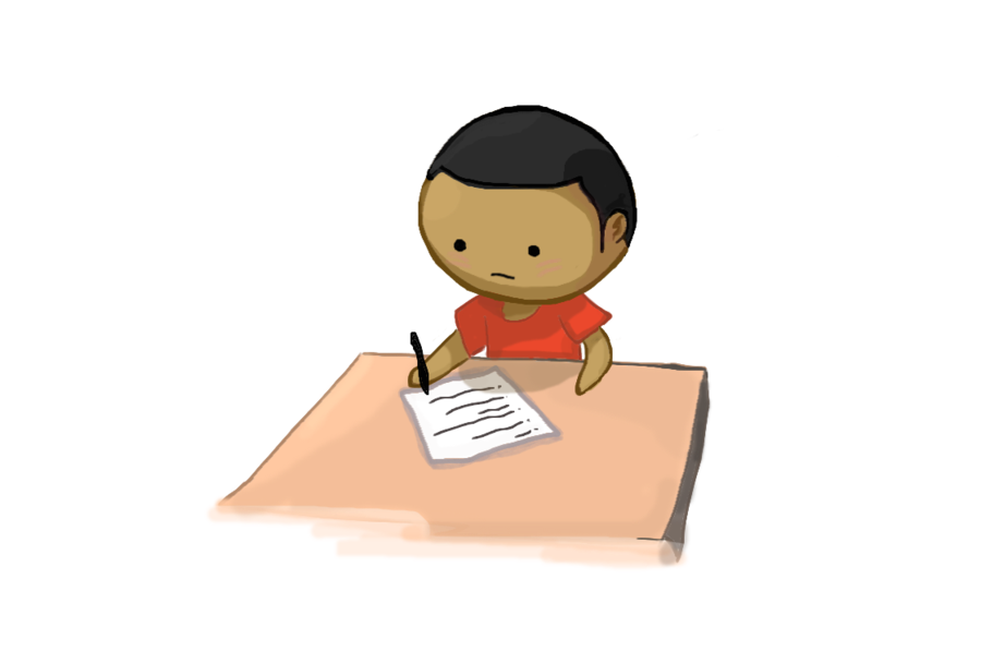 sWooZie taking test by DA-sWooZie PlusPng.com  - Taking A Test PNG