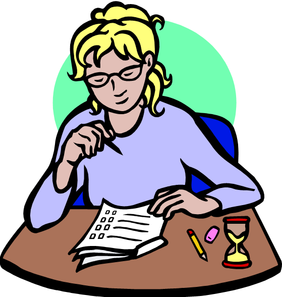 Test-taking Clipart #1 - Taking A Test PNG
