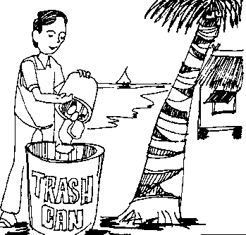 Trash - Taking Care Of Plants PNG Black And White