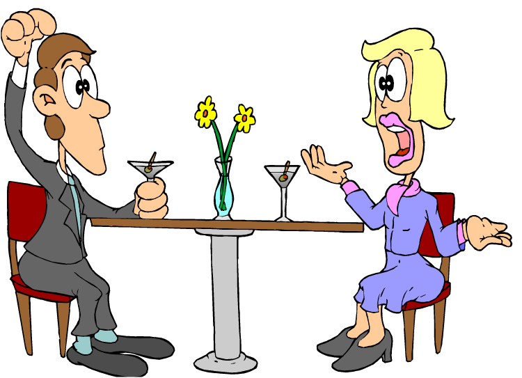 thinking too much clipart · two people talking cartoon man and woman clipart - Talk Too Much PNG