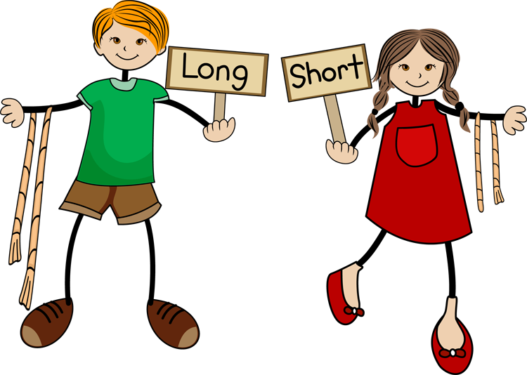 Clip Arts Related To : Long And Short Objects Worksheets Kindergarten - Long  And Short Objects - Tall And Short Objects PNG