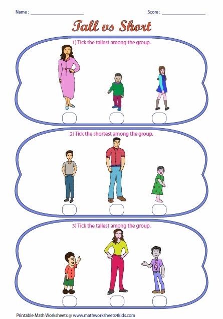math given the picture of the tall person and a short person, the client  will receptively identify tall/short of the time across 3 sessions - Tall And Short Objects PNG