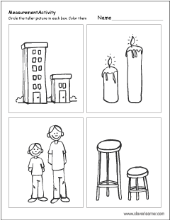 Which object is taller free worksheet for preschools Which object is shorter  PlusPng.com  - Tall And Short Objects PNG
