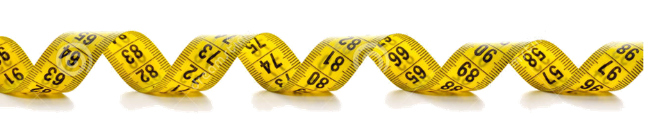 Bike Size Guide - Tape Measure Border PNG