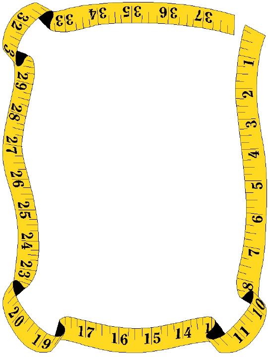pin cushion - Tape Measure Border PNG
