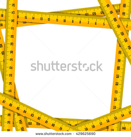 Slim Measuring tape for control your waist - Tape Measure Border PNG