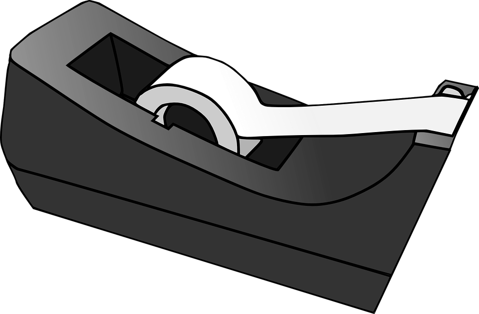 Tape PNG Black And White - 162023