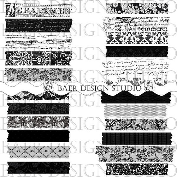 Tape PNG Black And White - 162022