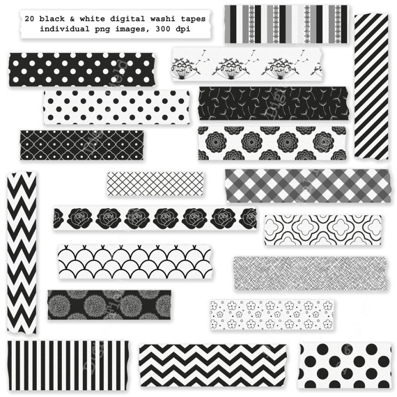 Tape PNG Black And White - 162020