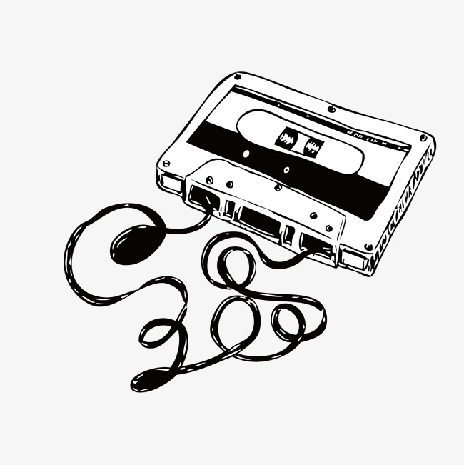 Tape PNG Black And White - 162019