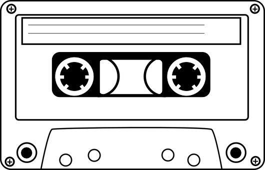 Tape PNG Black And White - 162014