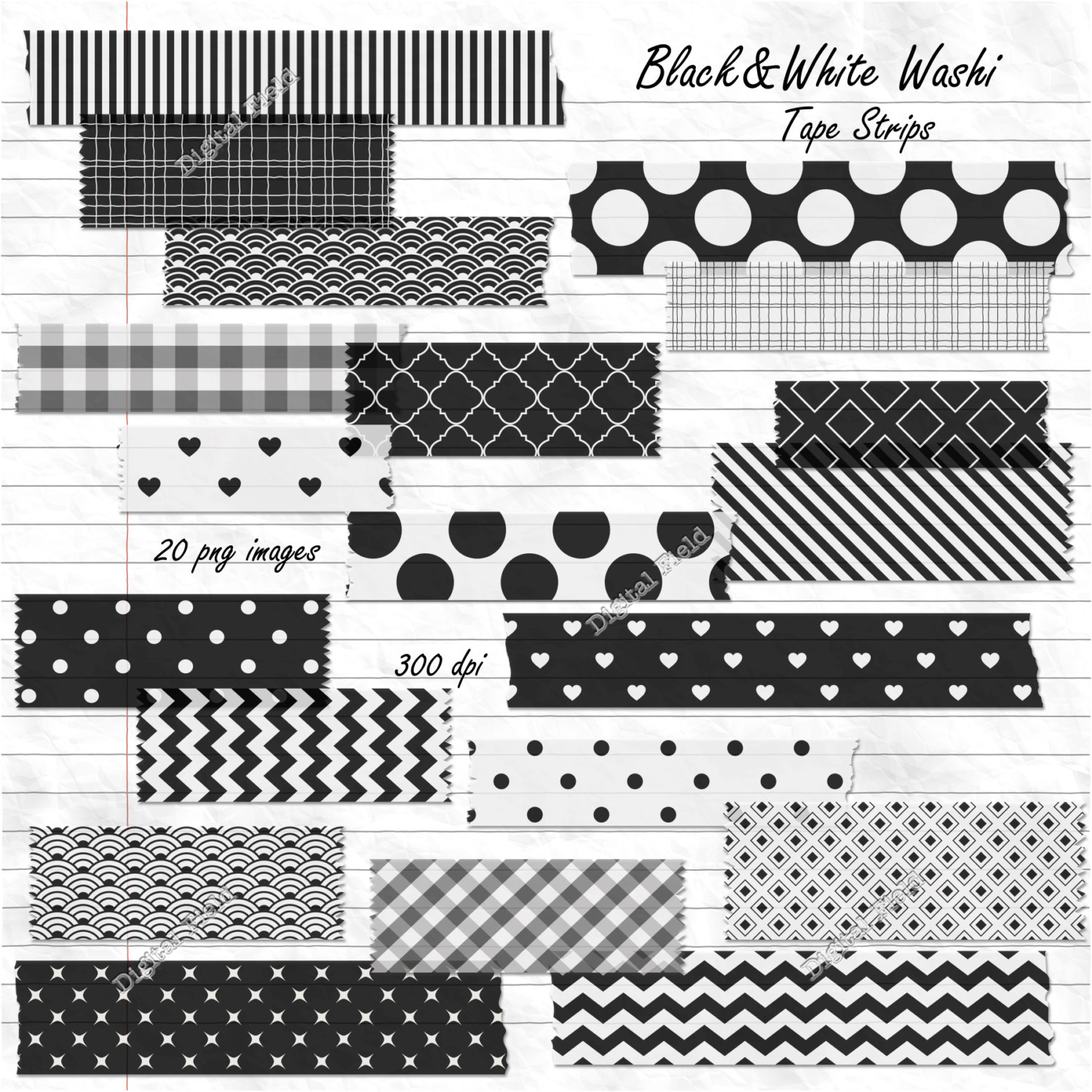 Tape PNG Black And White - 162015