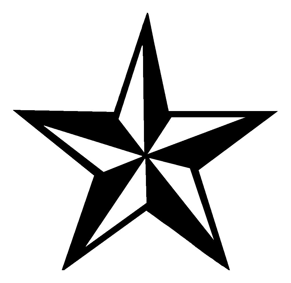 . PlusPng.com Tattoo Design Star 14 Black And White Nautical Star Tattoo Design.png  PlusPng.com  - Star Tattoos PNG