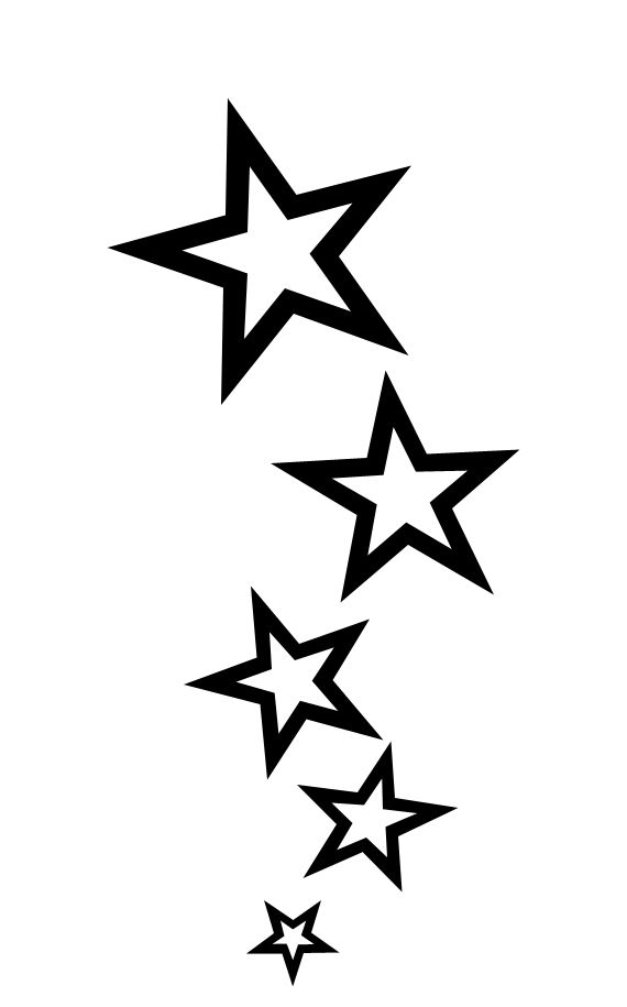 Star Tattoos PNG - 9