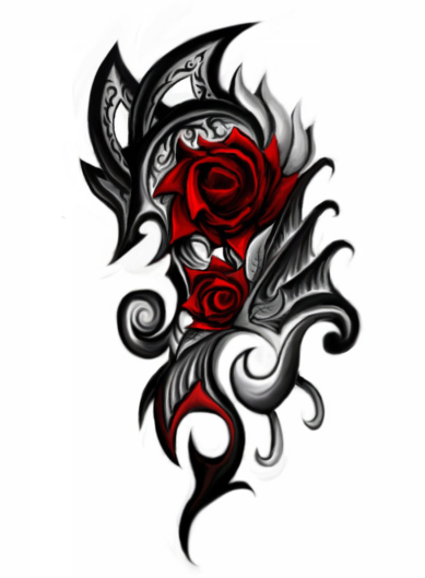 Rose Tattoo Png image #19378