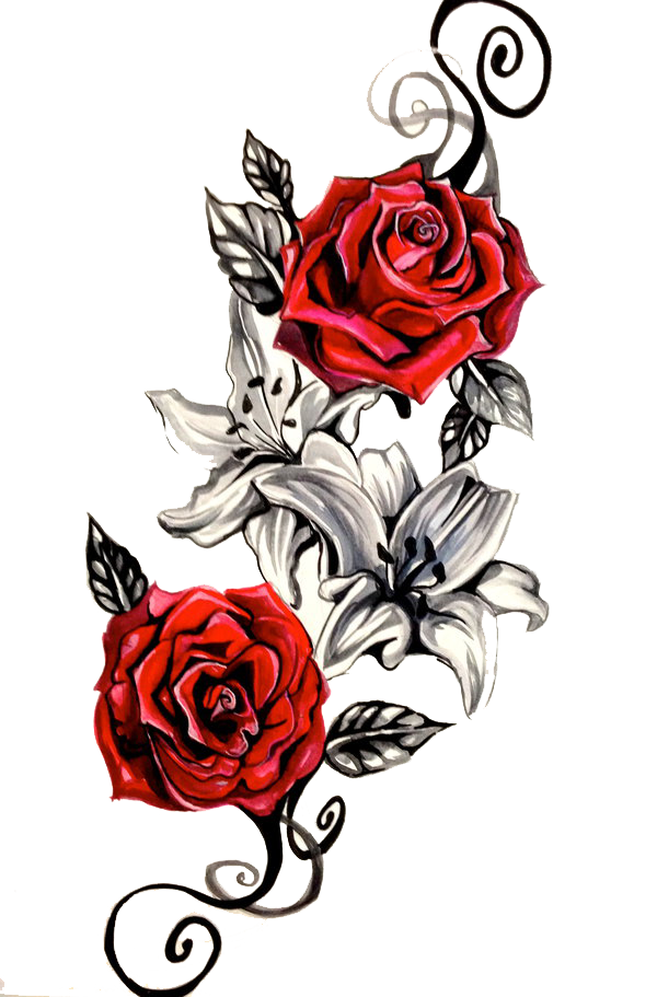 Tattoo Red Roses Png image #39026 - Tattoo PNG