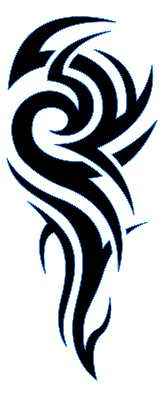 Tribal-tattoo-blue-black1.png (574×1391) - Tattoo PNG