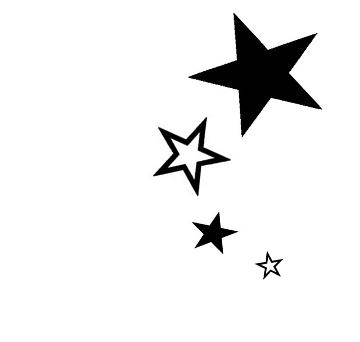 Tattoo Stencils - Star Tattoos PNG