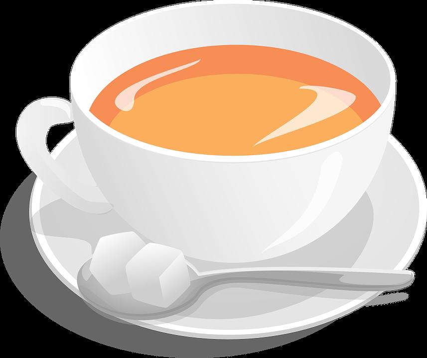 Tea, Cup, Sugar, Spoon, Hot, Beverage, Drink, Breakfast - Tea HD PNG