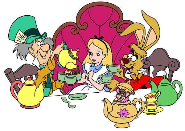 Image result for tea party cartoon