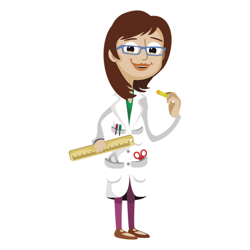 Funny woman teacher cartoon png - Teacher PNG