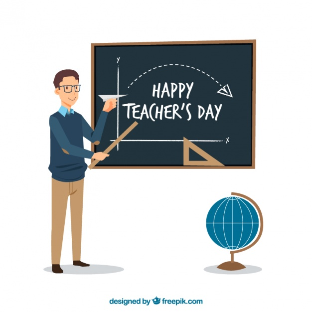 Happy teacher teaching math background - Teacher PNG HD Free