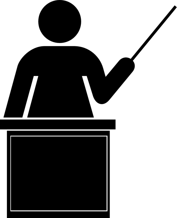 Teacher Silhouette Black Isolated Classroo - PNG HD For Teachers - Teacher PNG HD Free