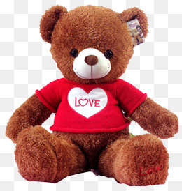 . PlusPng.com Gray teddy bear