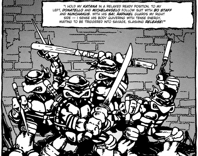 For starters, itu0027s amazing just how much of 1984u0027s Teenage Mutant Ninja  Turtles #1 is present on-screen. In fact, the filmu0027s basic structure  mirrors that of PlusPng.com  - Teenage Mutant Ninja Turtles PNG Black And White
