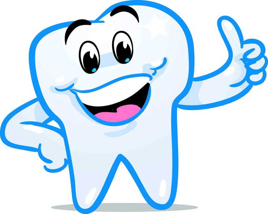 Happy Tooth Clipart - Teeth PNG HD