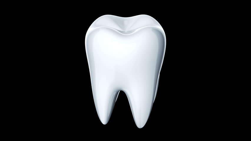 Rotation of white and glossy tooth. Background for medical movie or  stomatological presentation. Animation - Teeth PNG HD