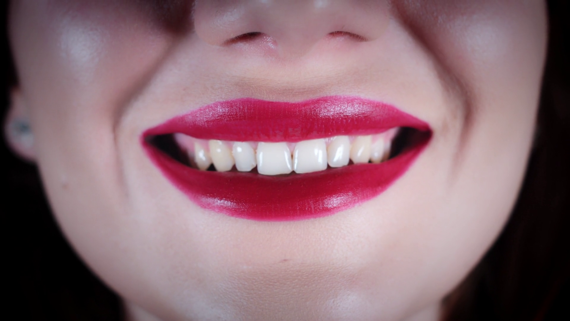 4K Close-up of Sexy Red Lips Teeth Smile Stock Video Footage - VideoBlocks - Teeth Smile PNG HD